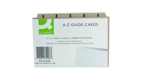 A/Z Guide Card