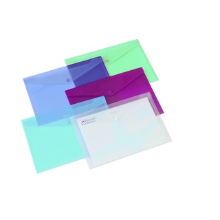 Carry Folder A4 Translucent Assorted (6 Pack) 16129AS