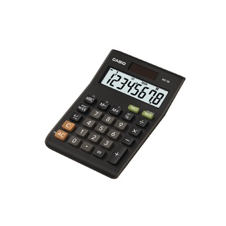 Black 8-Digit Tax and Currency Calculator MS-8B
