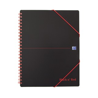 ' Red A4 Plus Wirebound Polypropylene Meeting Book 160 Pages (5 Pack) 100104323