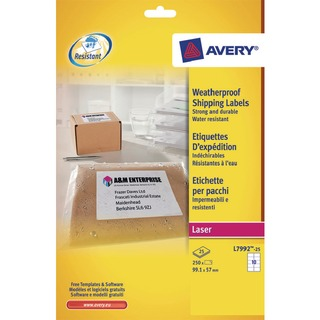 Weatherproof White Parcel Label 99.1 x 57mm 10 Per Sheet (250 Pack) L7992-25