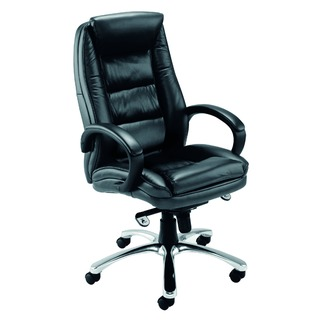 Tuscany Contemporary Executive Black Leather Chair