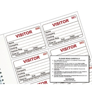 System Visitors Book Refill (300 Pack) IBRSYS300