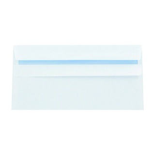 DL Envelope 100gsm Plain Peel and Seal White (500 Pack) 1P04