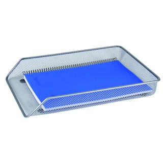 Mesh A4 Silver Letter Tray