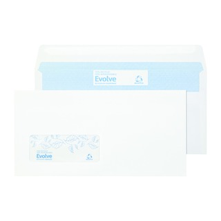 DL Recycled Window Envelope Self Seal 90gsm White (1000 Pack) RD7884