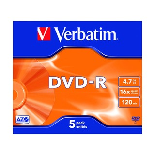 4.7GB 16x Speed Jewel Case DVD-R (5 Pack) 43519
