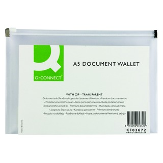 Clear A5 Document Zip Wallet (10 Pack)