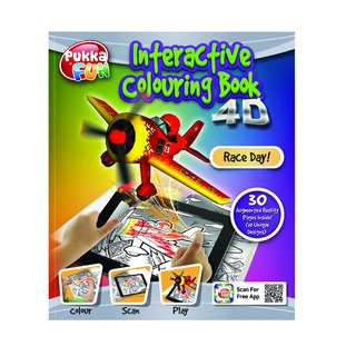 Pad Interactive Colouring Book 4D Race Day 8420-FUN