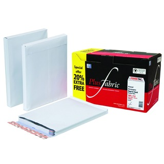 Gusset C4 Envelope White Peel and Seal 120gsm (100 Pack)