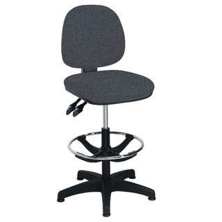 Charcoal Adjustable Draughtsman Chair