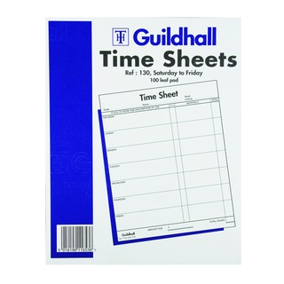 Time Sheet 254 x 203mm Saturday - Friday (100 Pack) 165