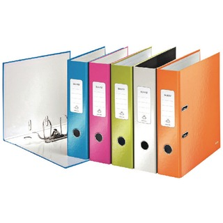 180° WOW 80mm Assorted A4 Lever Arch File (10 Pack) 10050099