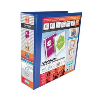 Panorama Blue A4 Plus 65mm 4 D-Ring Presentation Binder (4 Pack) 400008675