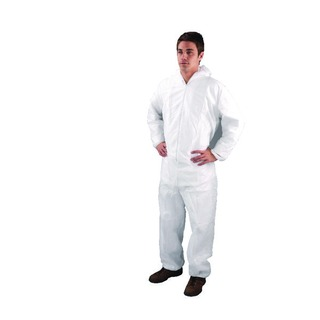 Large White Non-Woven Coverall DC