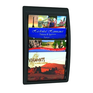 Oversized A4 Quick Fit Wall Display Black F40600