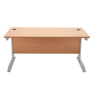 Cantilever 1400mm Oak Rectangular Desk