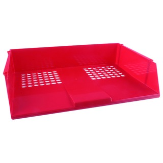 Red Wide Entry Letter Tray