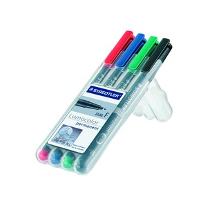 Lumocolor Fine Tip Water Soluble OHP Pen Assorted (4 Pack) 316-WP