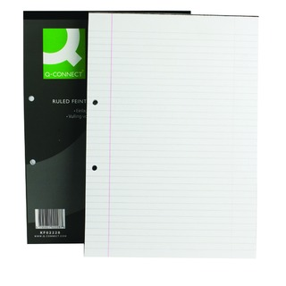 A4 Ruled Feint Margin Refill Pack 2 Hole Punched Headbound (10 Pack)