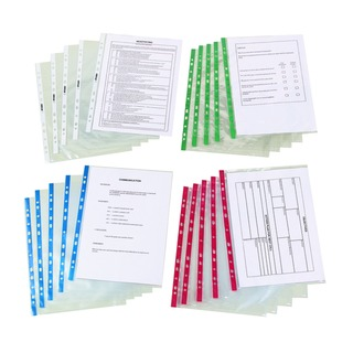 Glass Clear Punched Pocket (100 Pack)