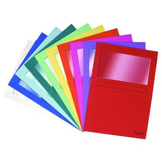 Exacompta Forever A4 Assorted Window Files (100 Pack) 50100E