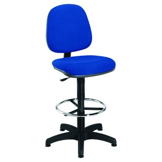 Blue Medium Back Draughtsman Chair