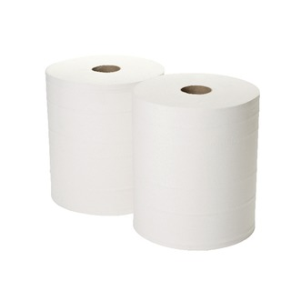 360mx280mm White 2-Ply Forecourt Roll Pack of 2 1WH