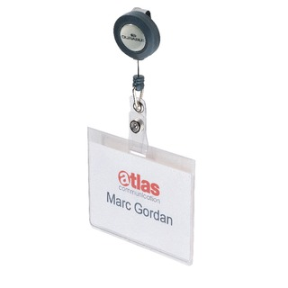 Name Badge With Reel (10 Pack) 8138/19