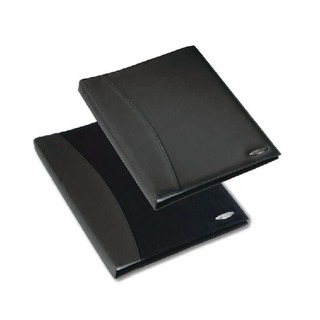 Soft Touch Smooth A4 Display Book 24 Pocket Black 210118