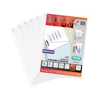 Quick In A4 Punched Pockets (100 Pack) 400012939