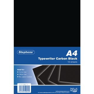 Black Typewriter Carbon A4 Paper (100 Pack) RS520153