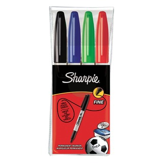 Fine Assorted Permanent Marker (4 Pack) S