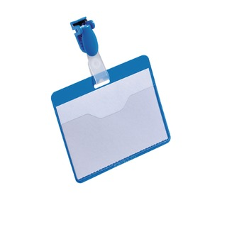 Blue Visitor Name Badge 60x90mm (25 Pack) 8147/