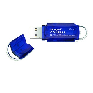 Courier Encrypted USB 3.0 64GB Flash Drive INFD64GCOU3.0-197