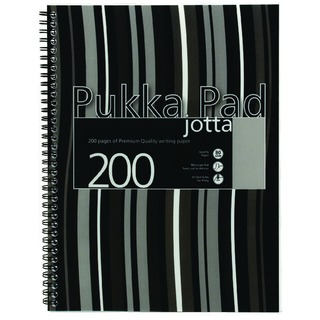A4 Wirebound Jotta Notebook With Margin (3 Pack) J