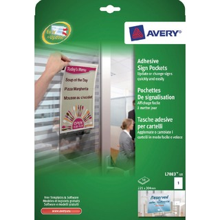 Transparent Adhesive Sign Pockets A4 (10 Pack) L7083-1