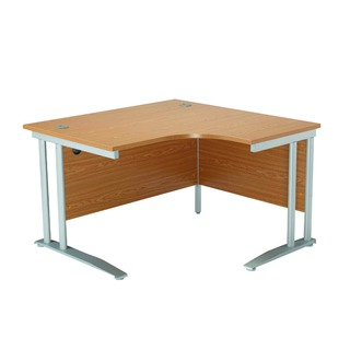 1200mm LH Cantilever Radial Desk Maple