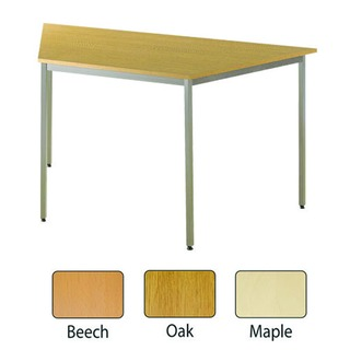 Maple 1600x800mm Trapezoidal Table