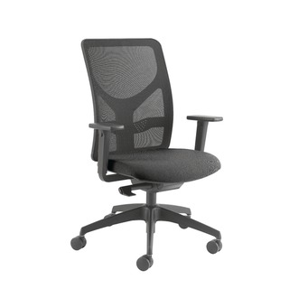Push Mech Mesh Task Black Chair
