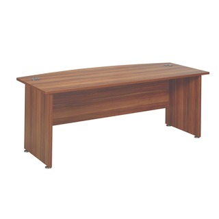 Cherry 2000mm Bow Front Desk