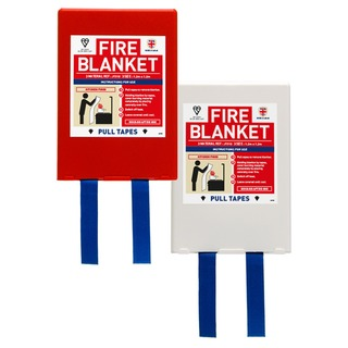 1.2 x 1.2 mtr Jacpack Fire Blanket - Red holder
