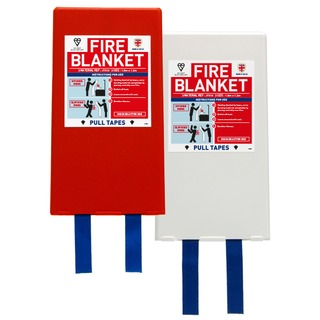 1.8 x 1.2 mtr Jacpack Fire Blanket - Red holder