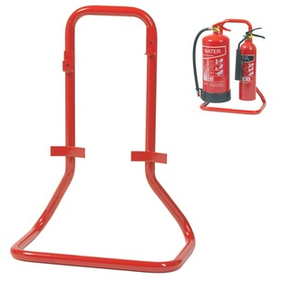 Double extinguisher stand - metal