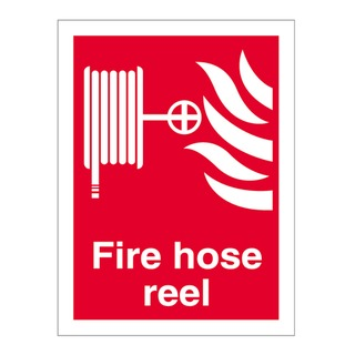 200 x 150mm Fire Hose Reel sign - self-adhesive vinyl
