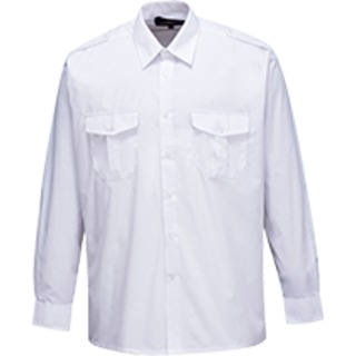 Pilot Shirt Long Sleeve, White, 170 (   S102  )