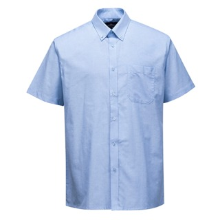 Easycare Oxford Shirt  S/S, Blue, Large (   S118  )