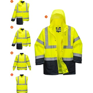 5in1 Hi-Vis Executive Jacket, Yellow/Navy, 3 XL (   S768  )