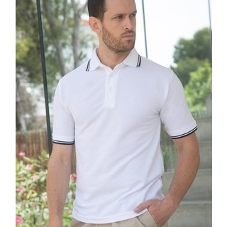 Henbury Contrast Tipped Polo