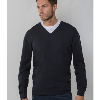 RTY Wool/Acry. V Neck Sweater